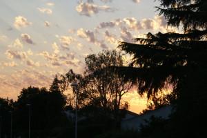 coucher de soleil au mois d'août
